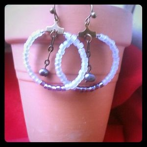 Jewelry - Handcrafted Beaded Hoops